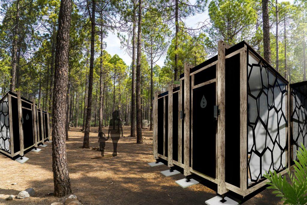 Definitief ontwerp van de sanitaire unit Santana